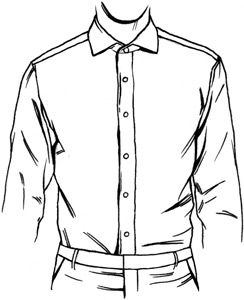 graphic freeuse Dress Shirt Front Placket Types