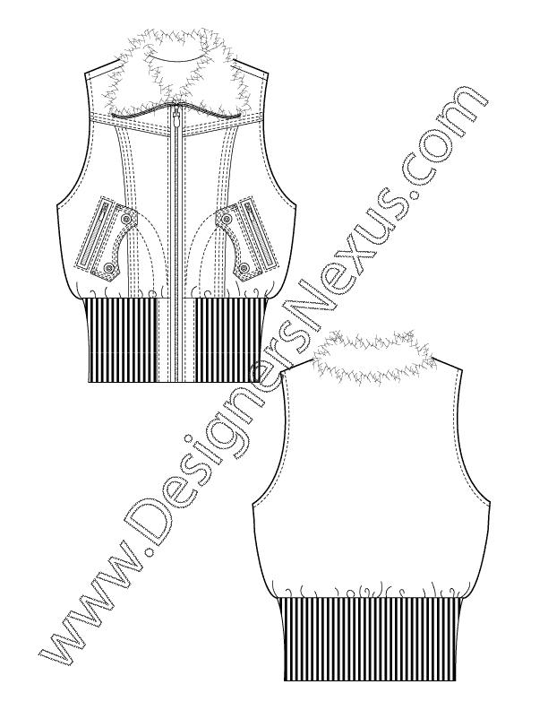 jpg black and white stock Free Vest Fashion Sketch