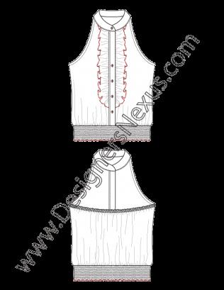 royalty free download Fashion Top Flat Sketch