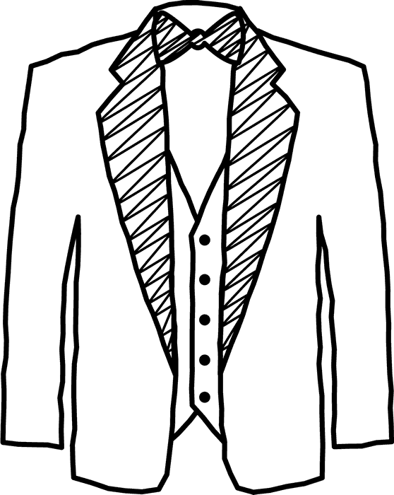 banner black and white Tuxedo Drawing at GetDrawings