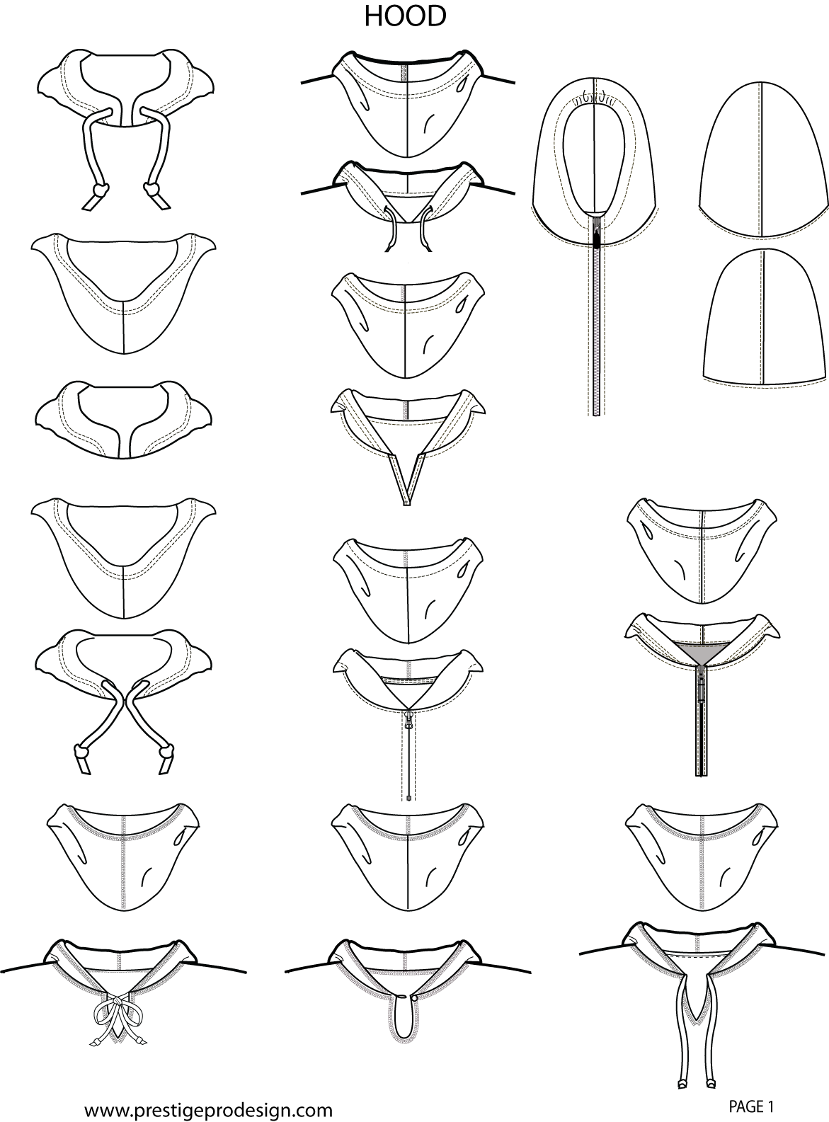 graphic stock A really helpful reference to different types of collars