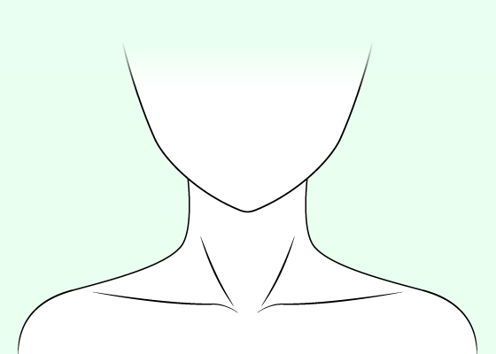 clip transparent stock How to draw neck. Drawing necks anime