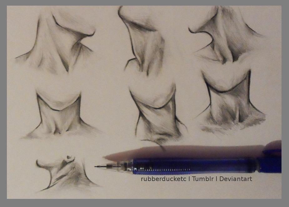 transparent download Drawing necks collar bone. Art people female head