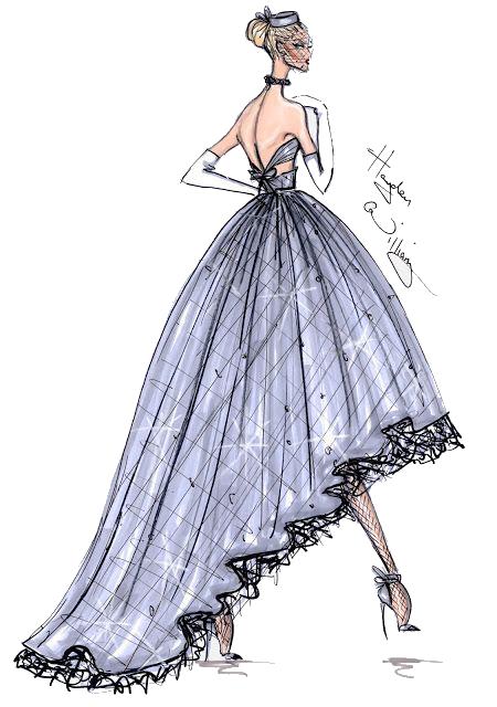 vector freeuse stock Fashion illustration Haute couture Drawing Fashion design