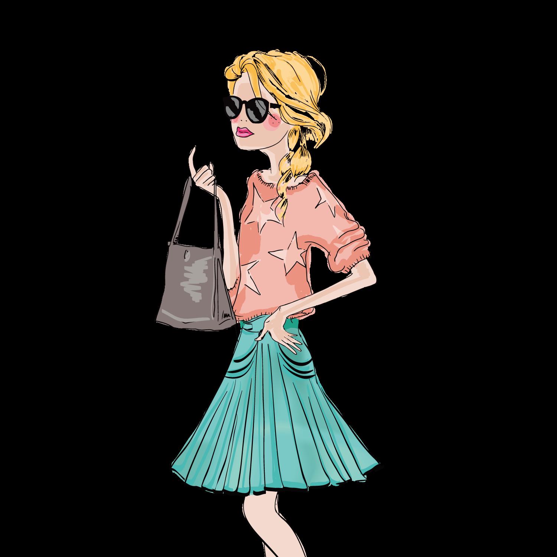 svg royalty free Girl Drawing Fashion Illustration