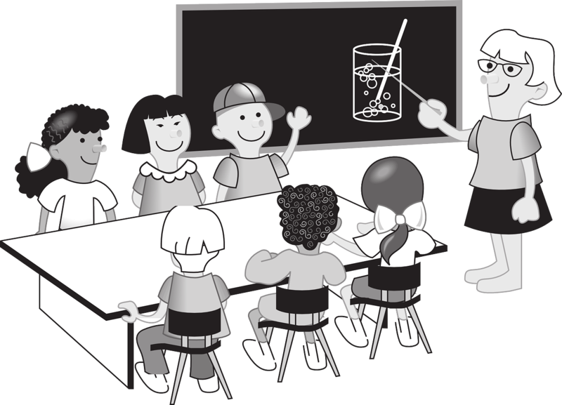 vector free download Proportions and scale drawings. Students talking in class clipart