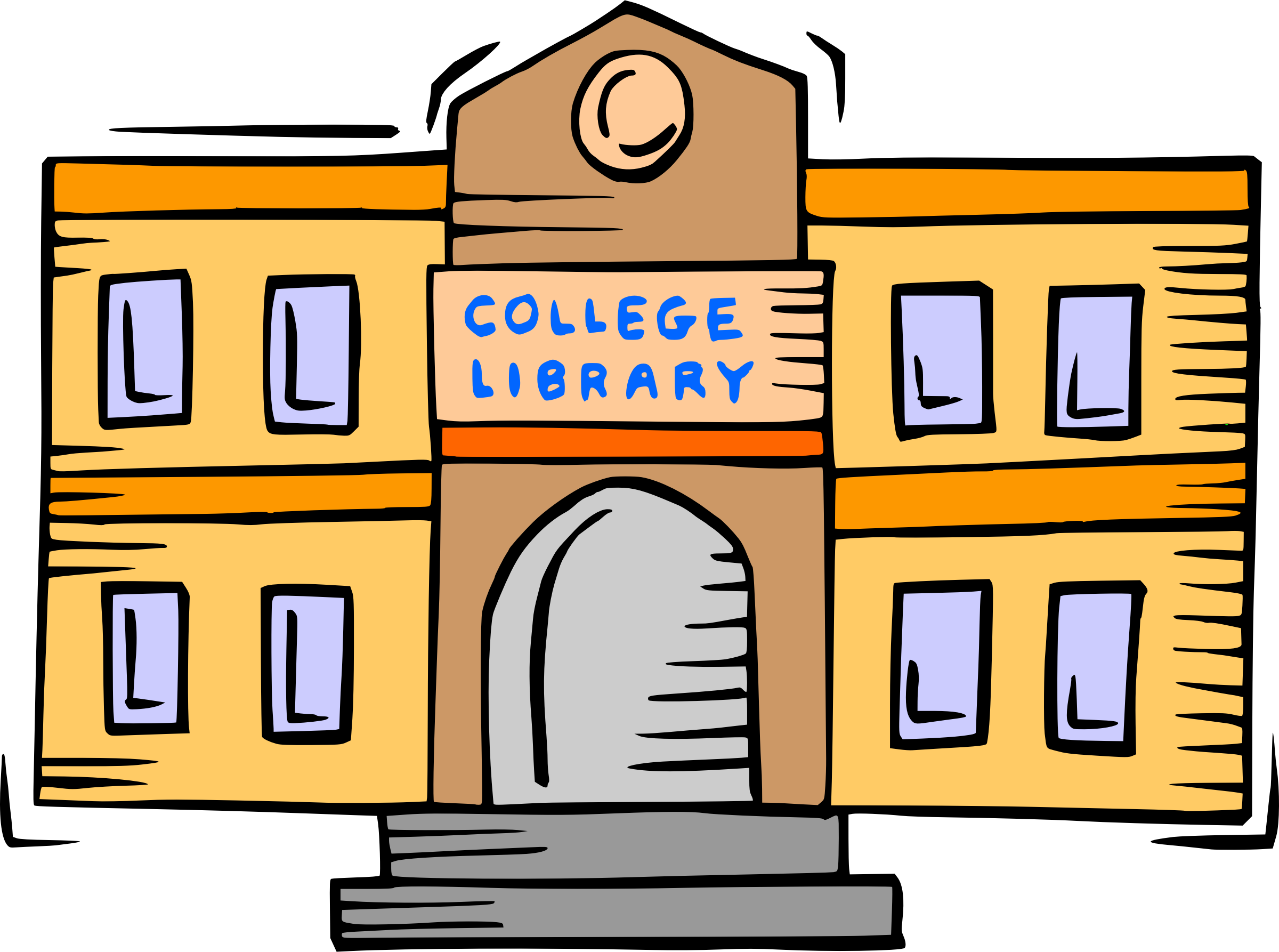 svg transparent library Library big image png. College clipart.