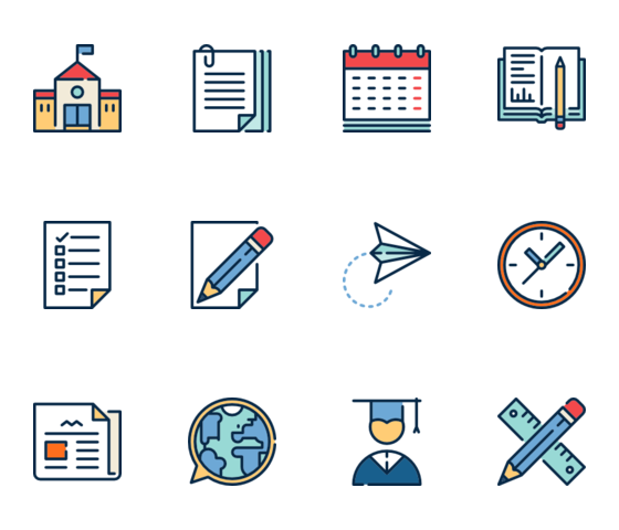 transparent library Flat Icon