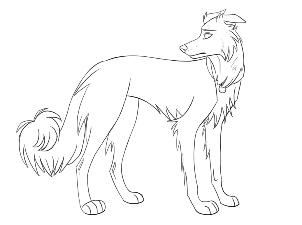 jpg download Border lineart by rolfwolf. Collie drawing