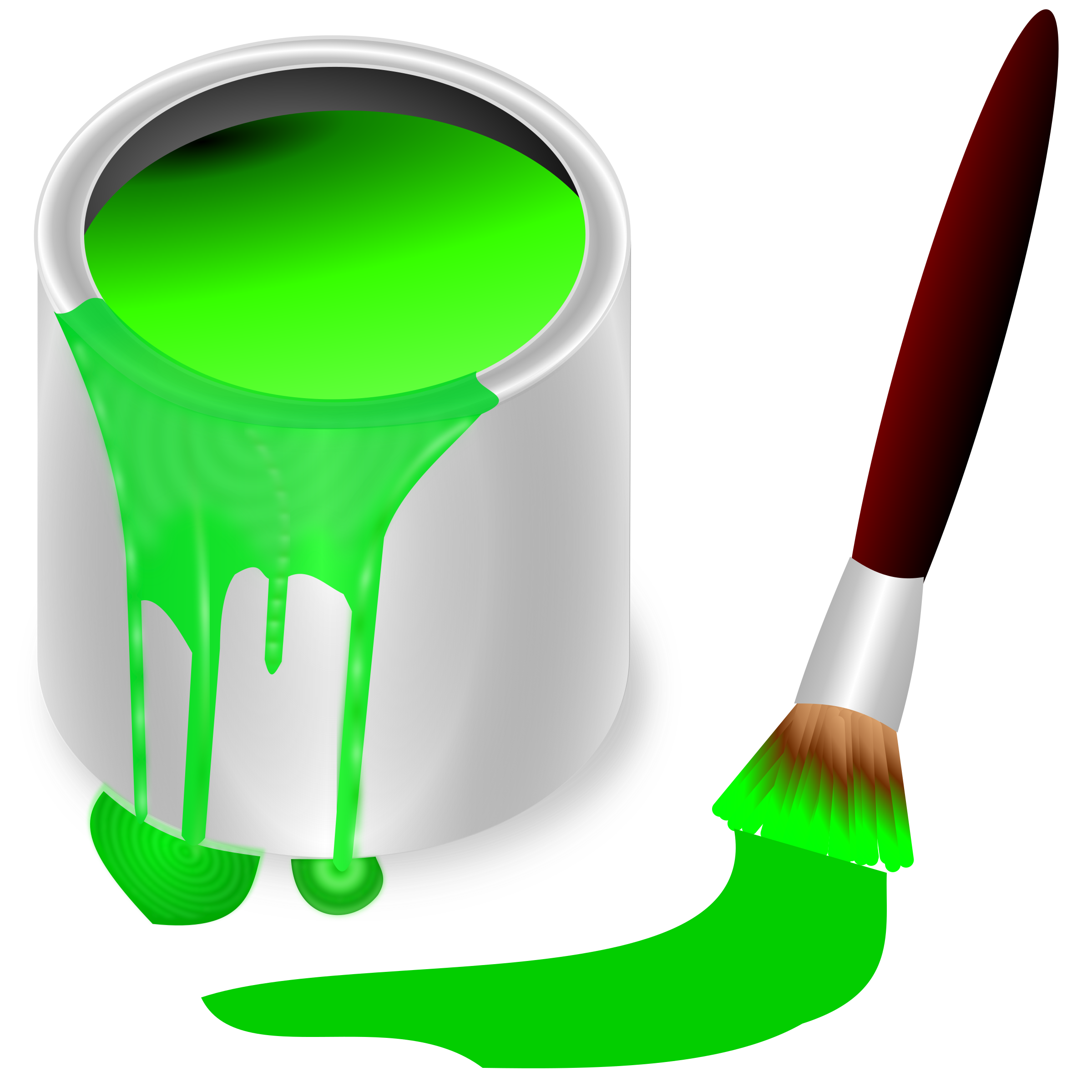transparent Bucket green big image. Color clipart.