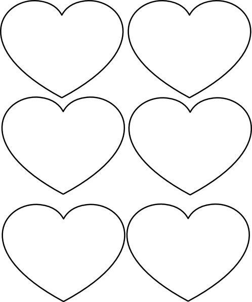 graphic freeuse stock Color clipart printable. Valentine hearts to print.