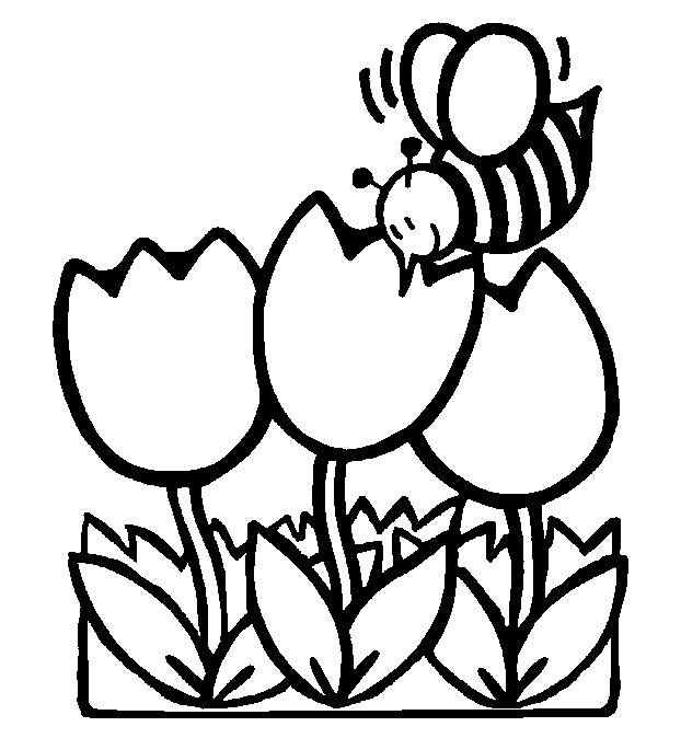 vector stock To color clip art. Page clipart spring.