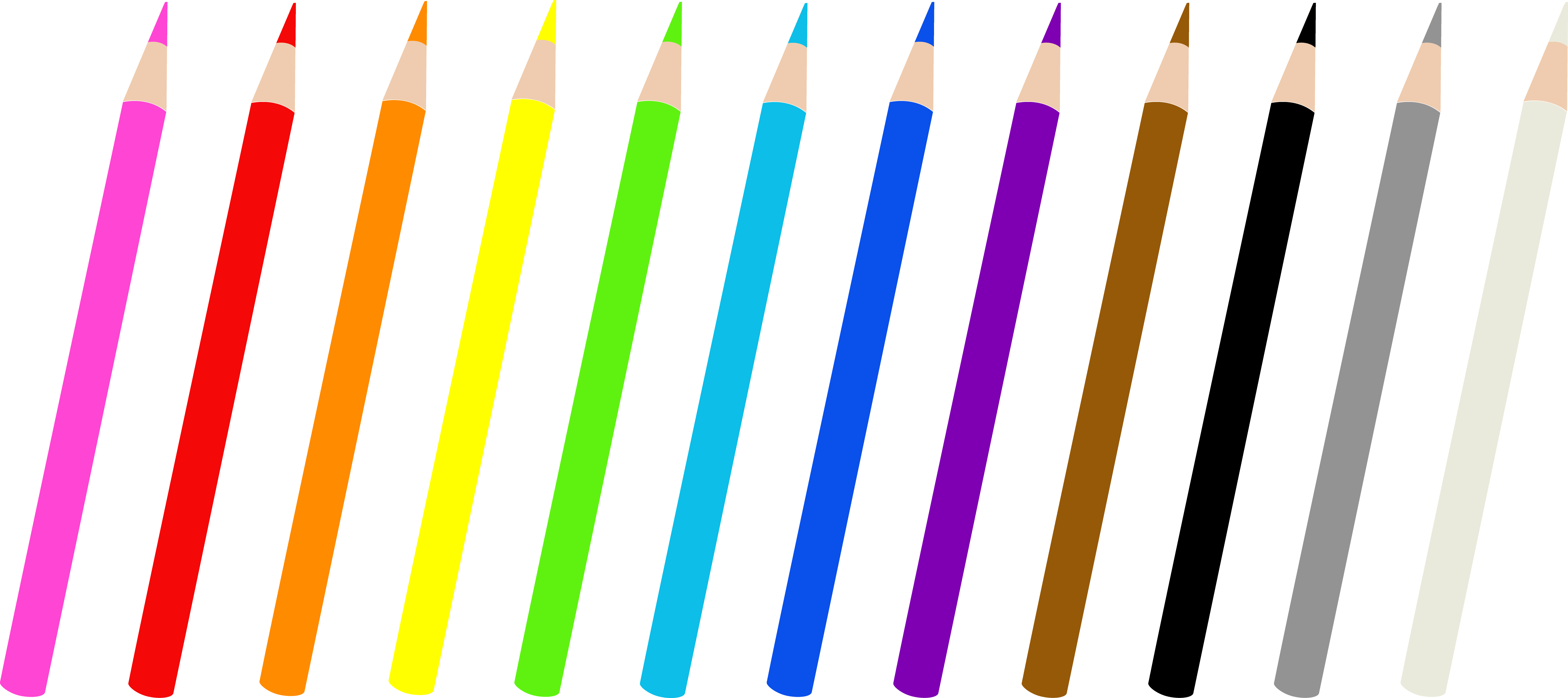 banner free Colored Pencils Single Clipart