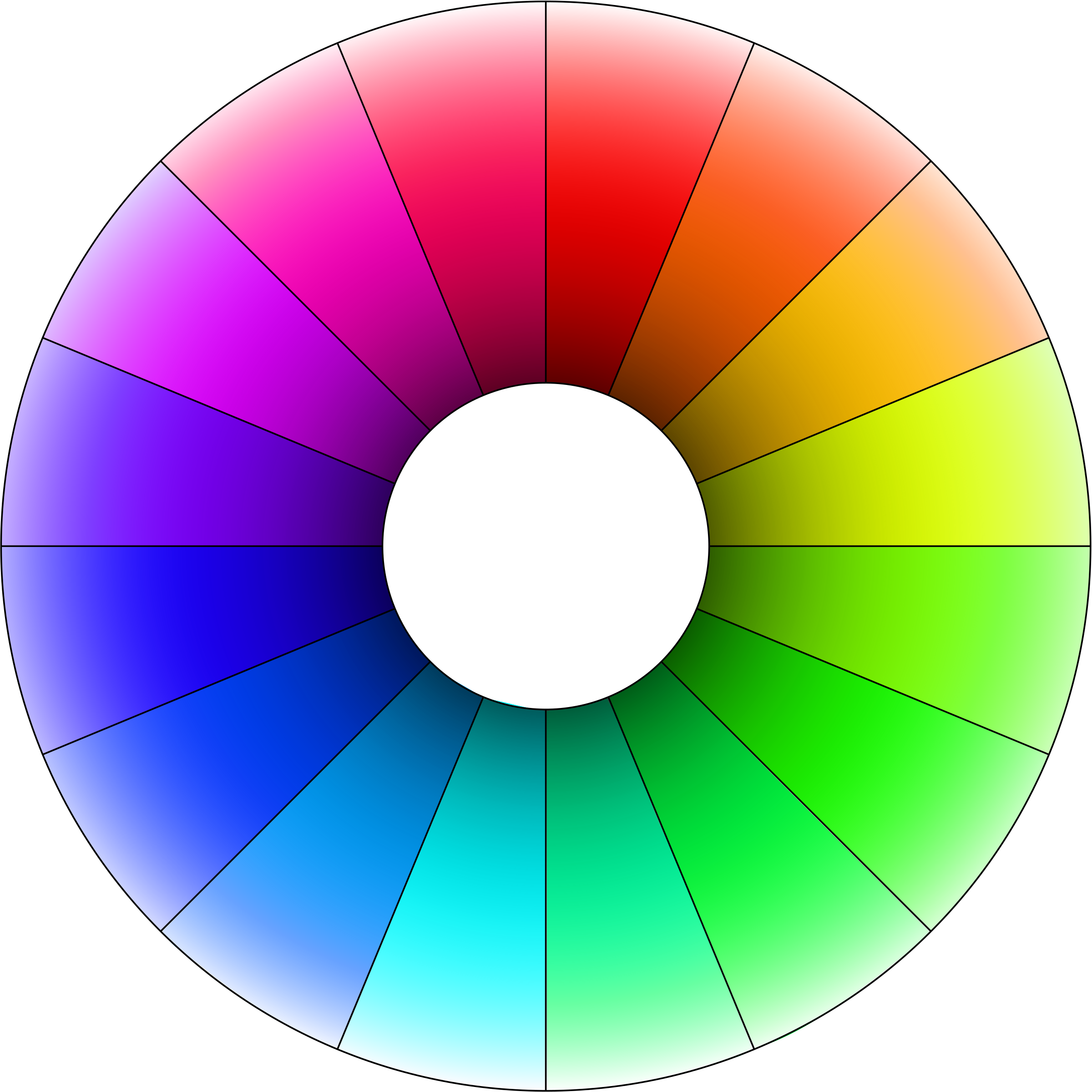 vector transparent library Color wheel clipart. Hue with lightness gradient.