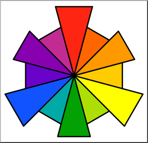 svg black and white library Color wheel clipart. Clip art wheels i.