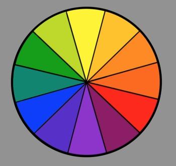 graphic transparent Color wheel clipart.