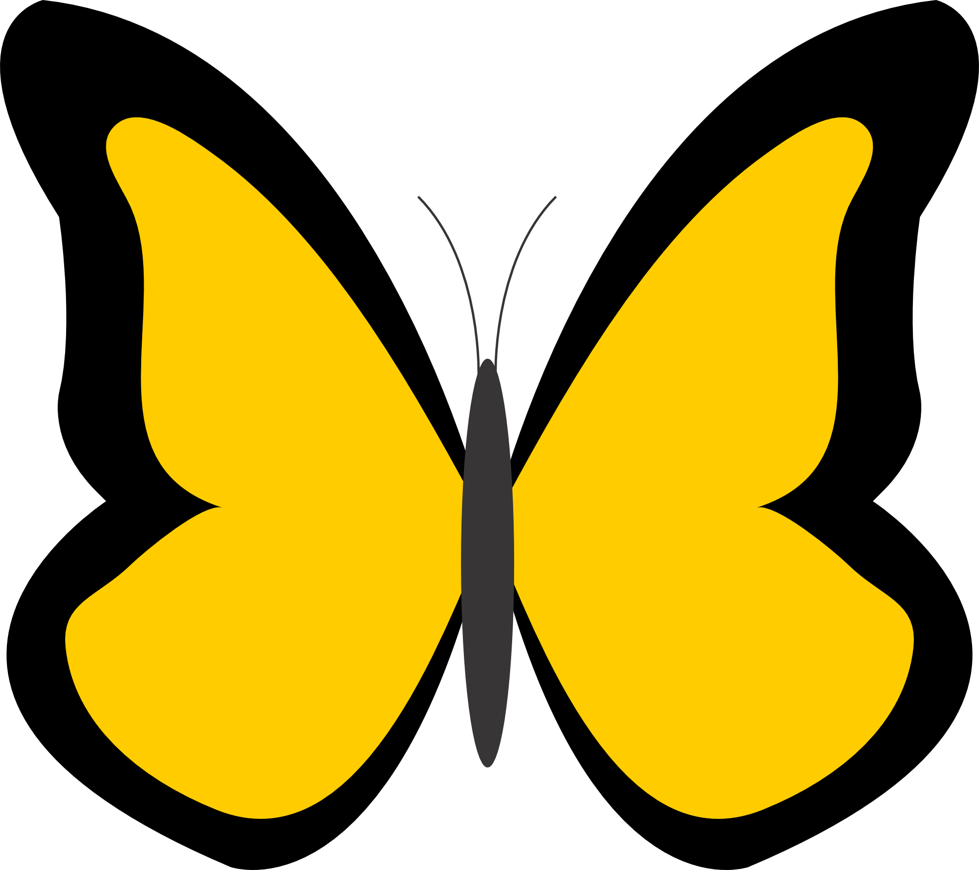 png freeuse library 5 clipart colored butterfly. Color colour panda free.