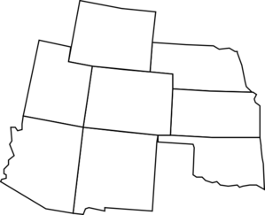 svg black and white Colorado Map With Surrounding States