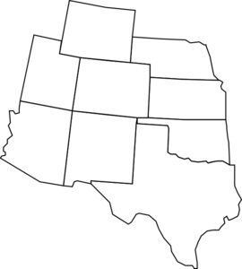 svg freeuse Colorado Map With Surrounding States Clip Art at Clker