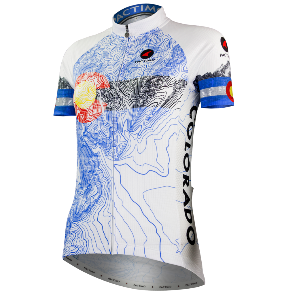 graphic free library Colorado Topo Cycling Jersey for Women