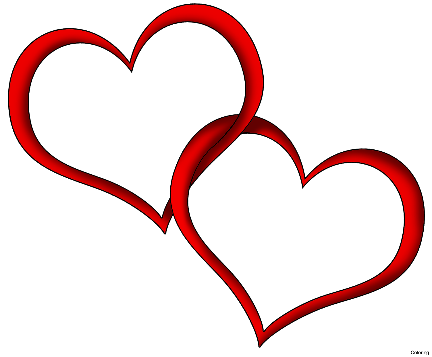 picture black and white stock Heart free on. Colored clipart