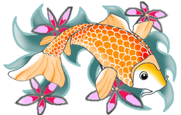 freeuse stock Colorful Koi Fish Drawings