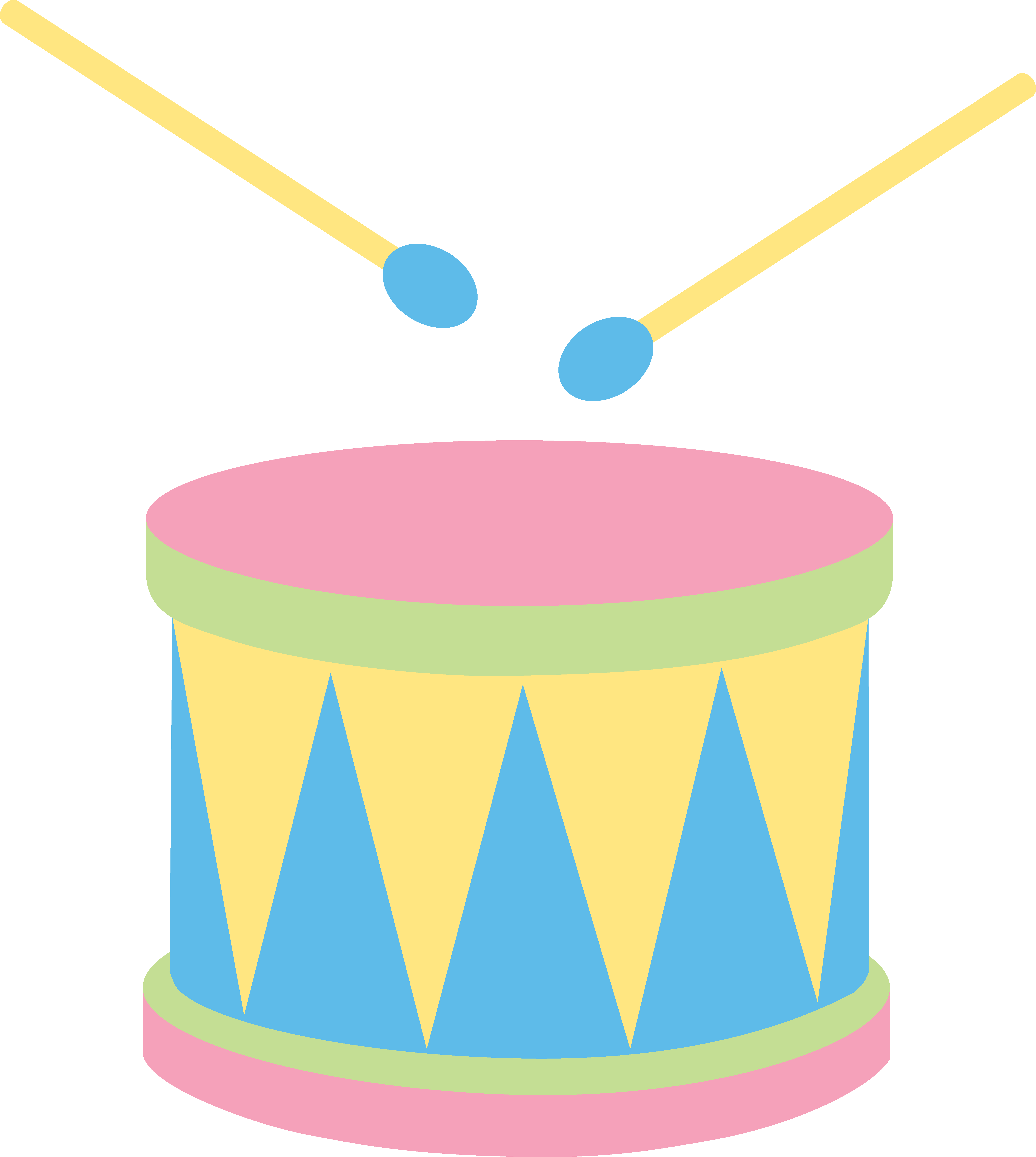 jpg free Pastel drum free clip. Music clipart for kids