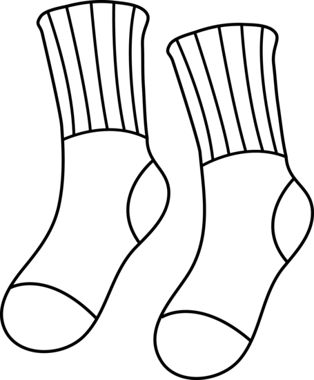 jpg library Pair Clipart colored sock