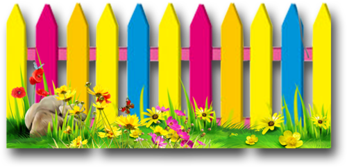 banner free colorful fences