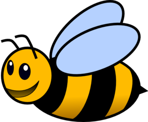 banner black and white library Bee clip art at. Colored clipart