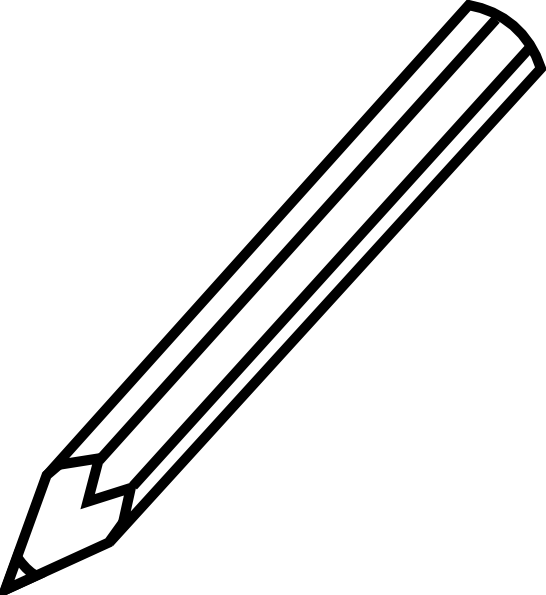 image free stock Colored pencils clipart black and white. Pencil letters format library