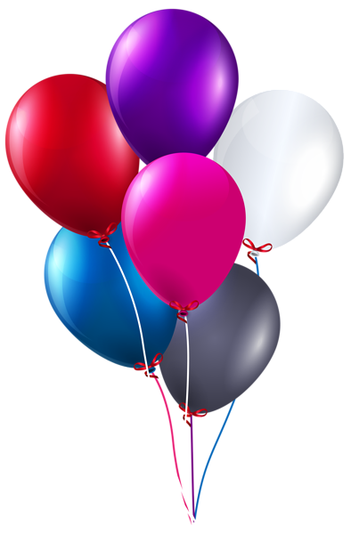 vector freeuse download Colorful Bunch of Balloons PNG Clipart Image