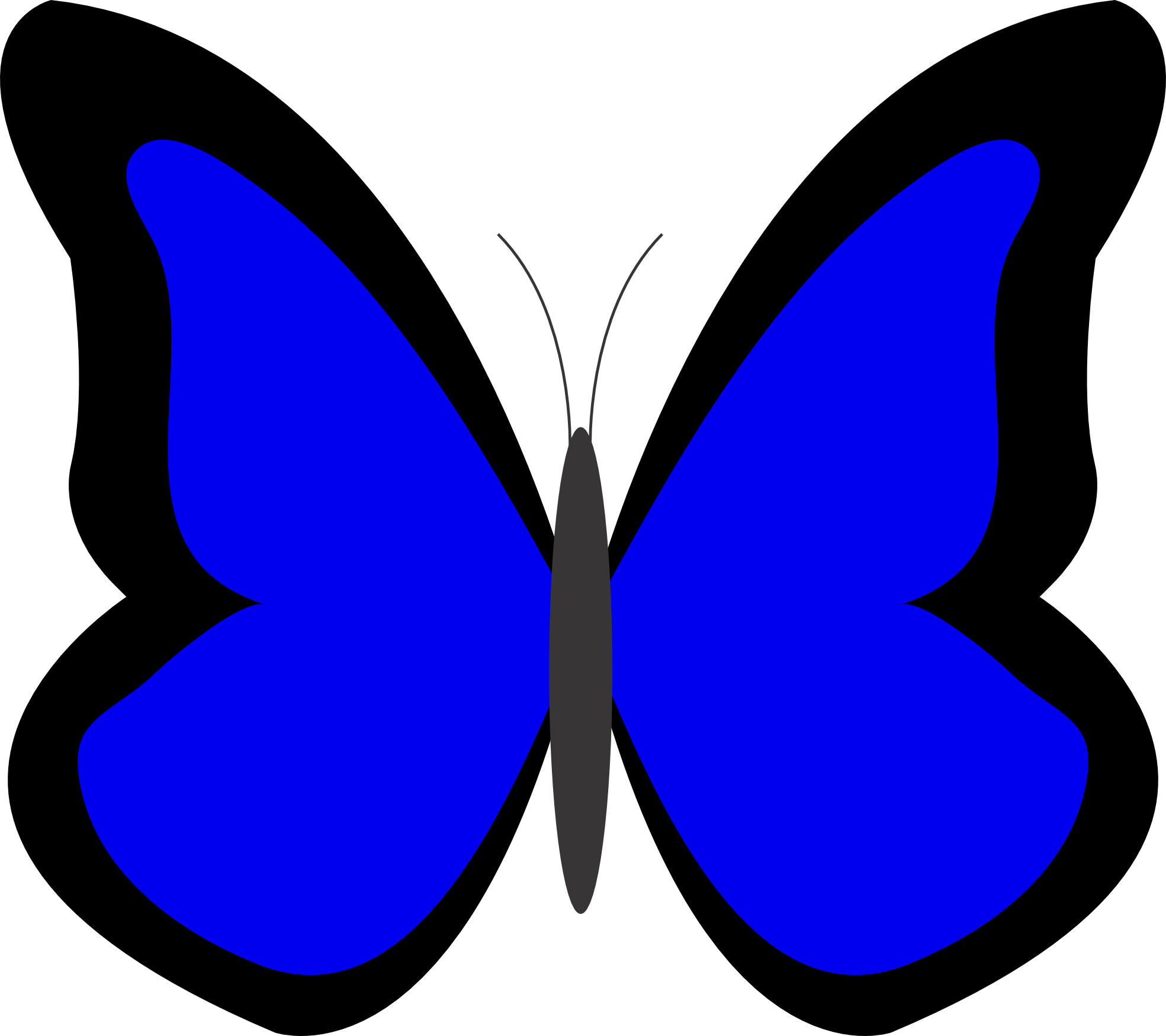 banner freeuse download 5 clipart colored butterfly.  collection of blue.