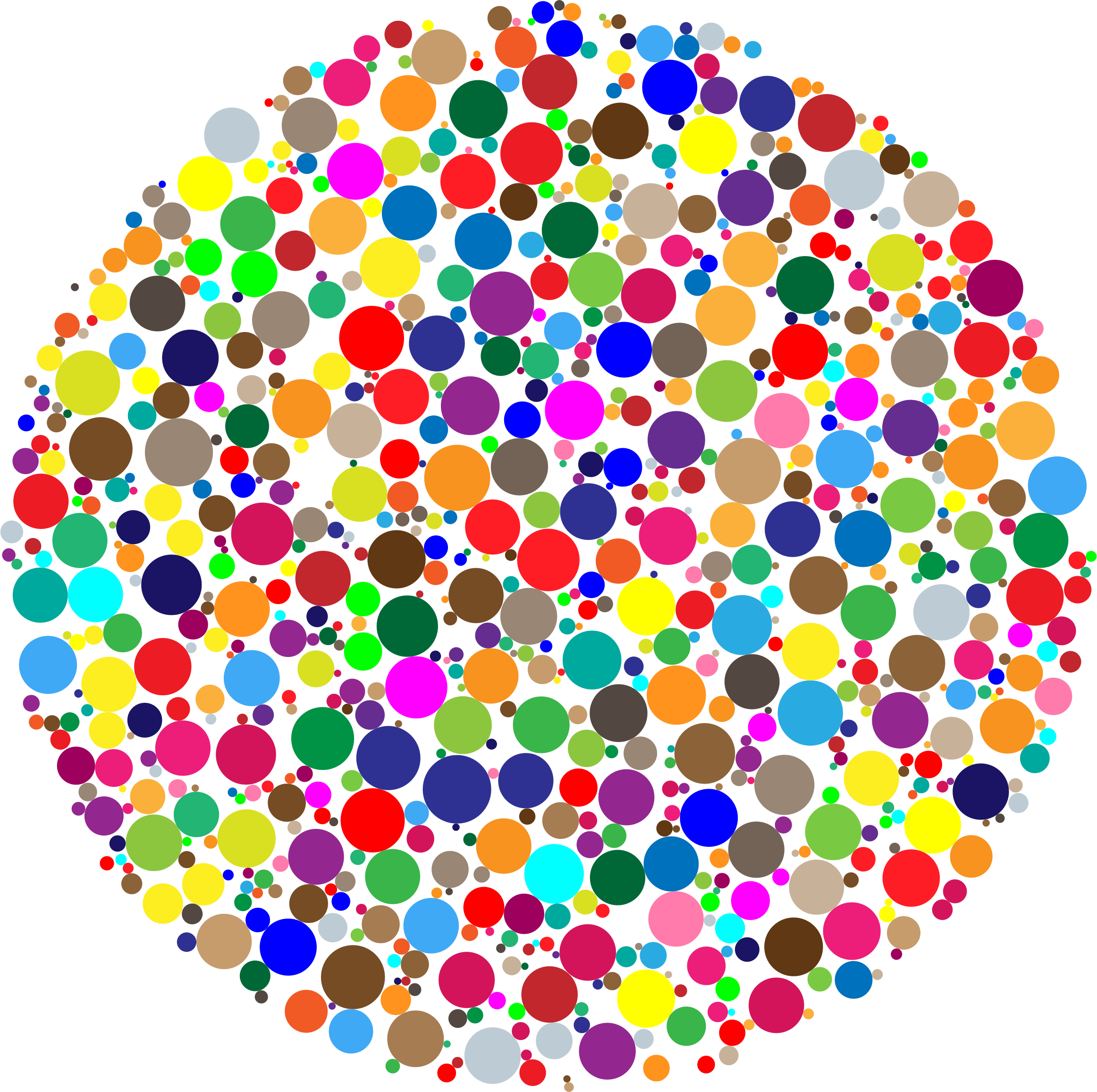 jpg black and white library Colorful clipart. Circle fractal big image.