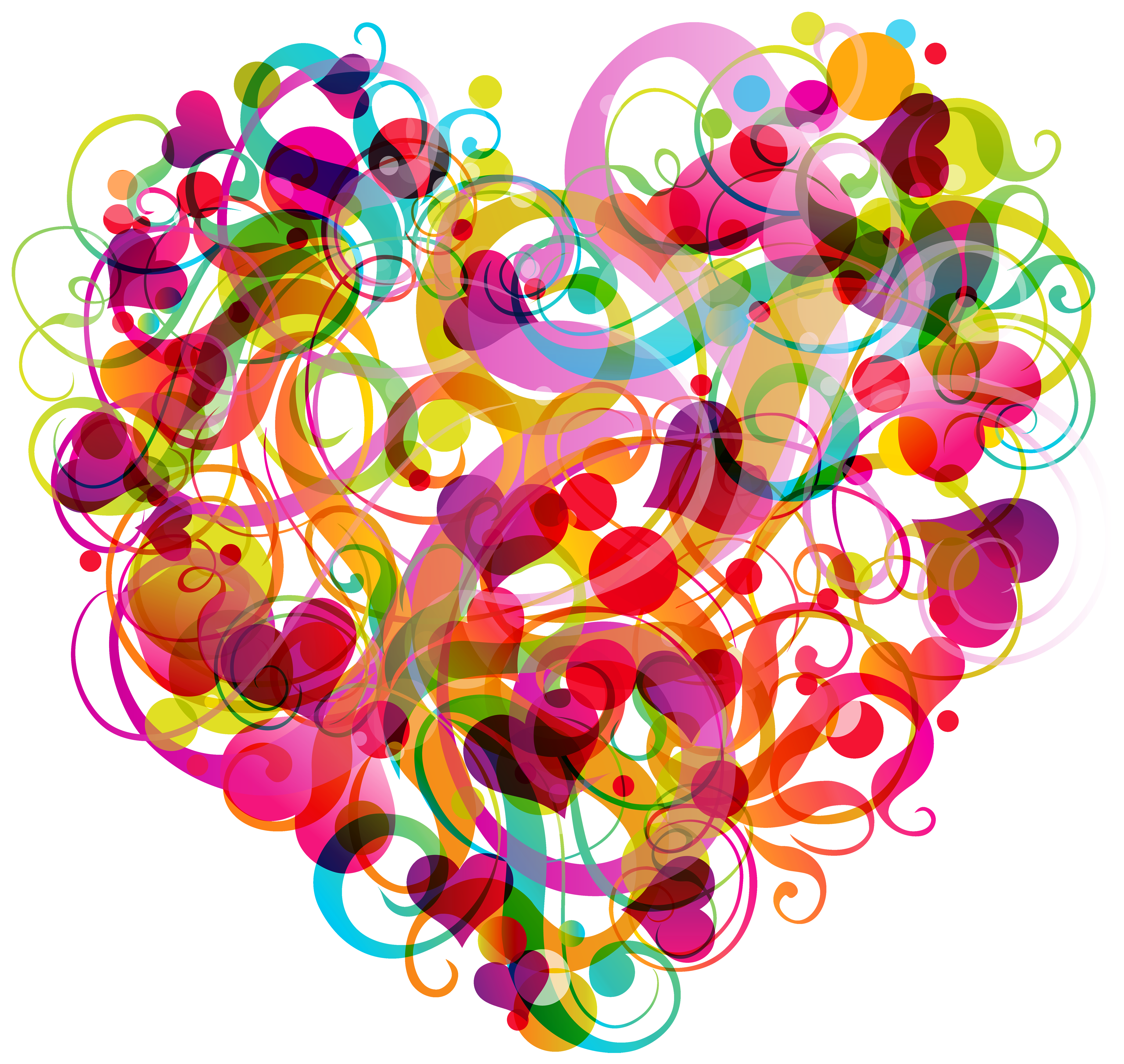 image transparent library Abstract heart png best. Colorful clipart.