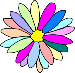 clip black and white Colorful clipart. Flower clip art at.