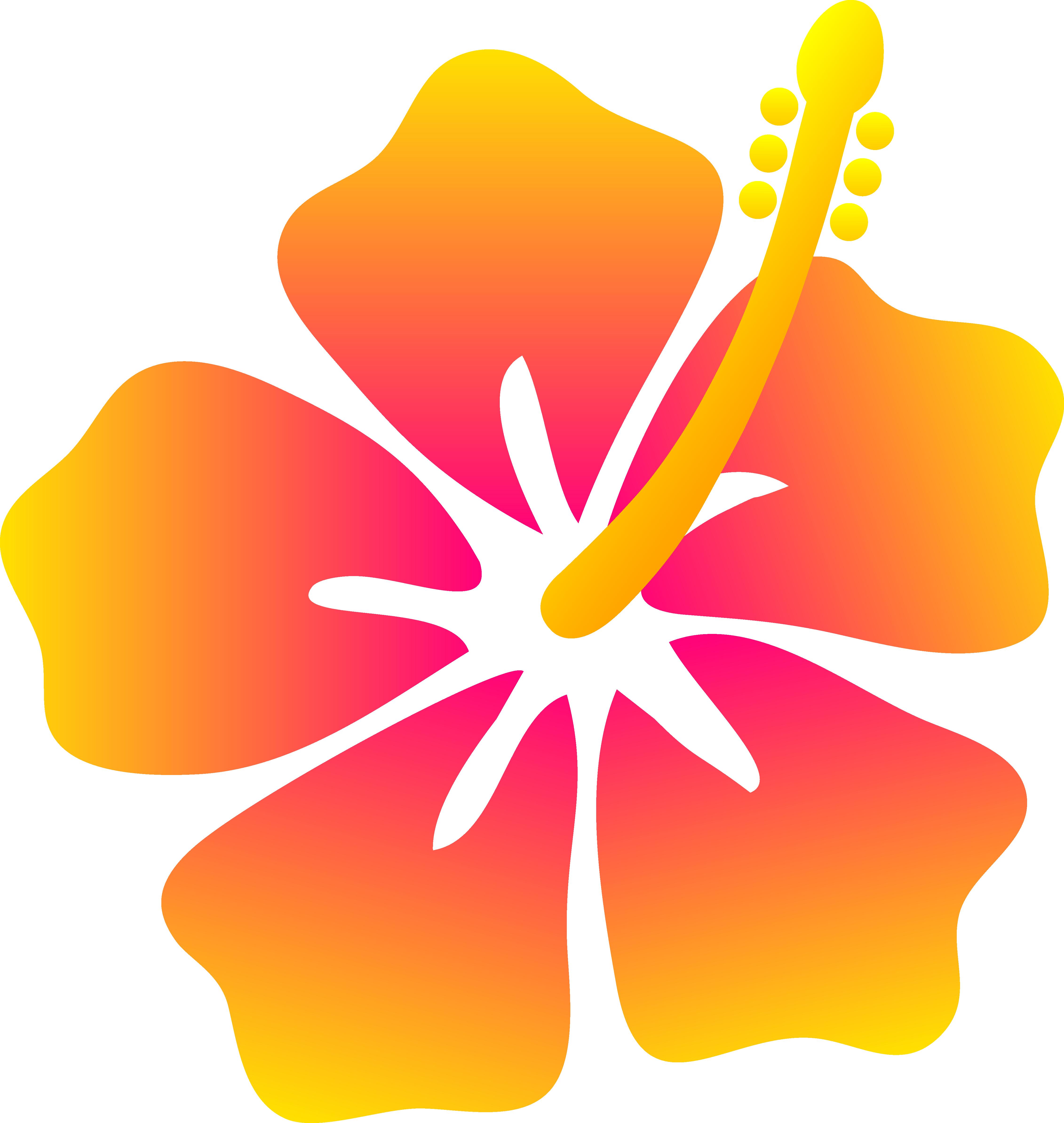 download Flower clip art pink. Beach transparent hawaiian