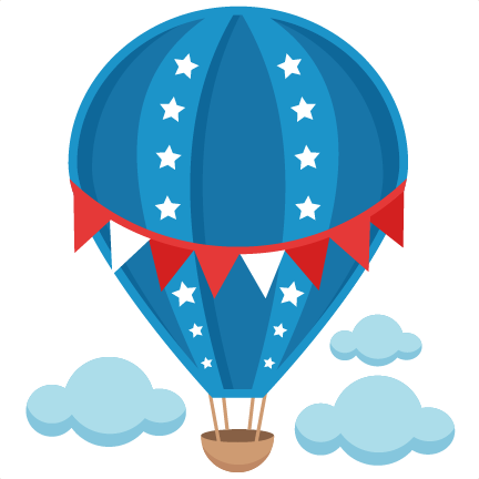 image royalty free download Patriotic Hot Air Balloon SVG scrapbook cut file cute clipart files