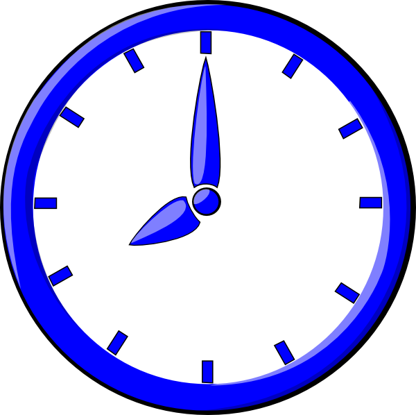 vector library download Colorful Clock Clipart