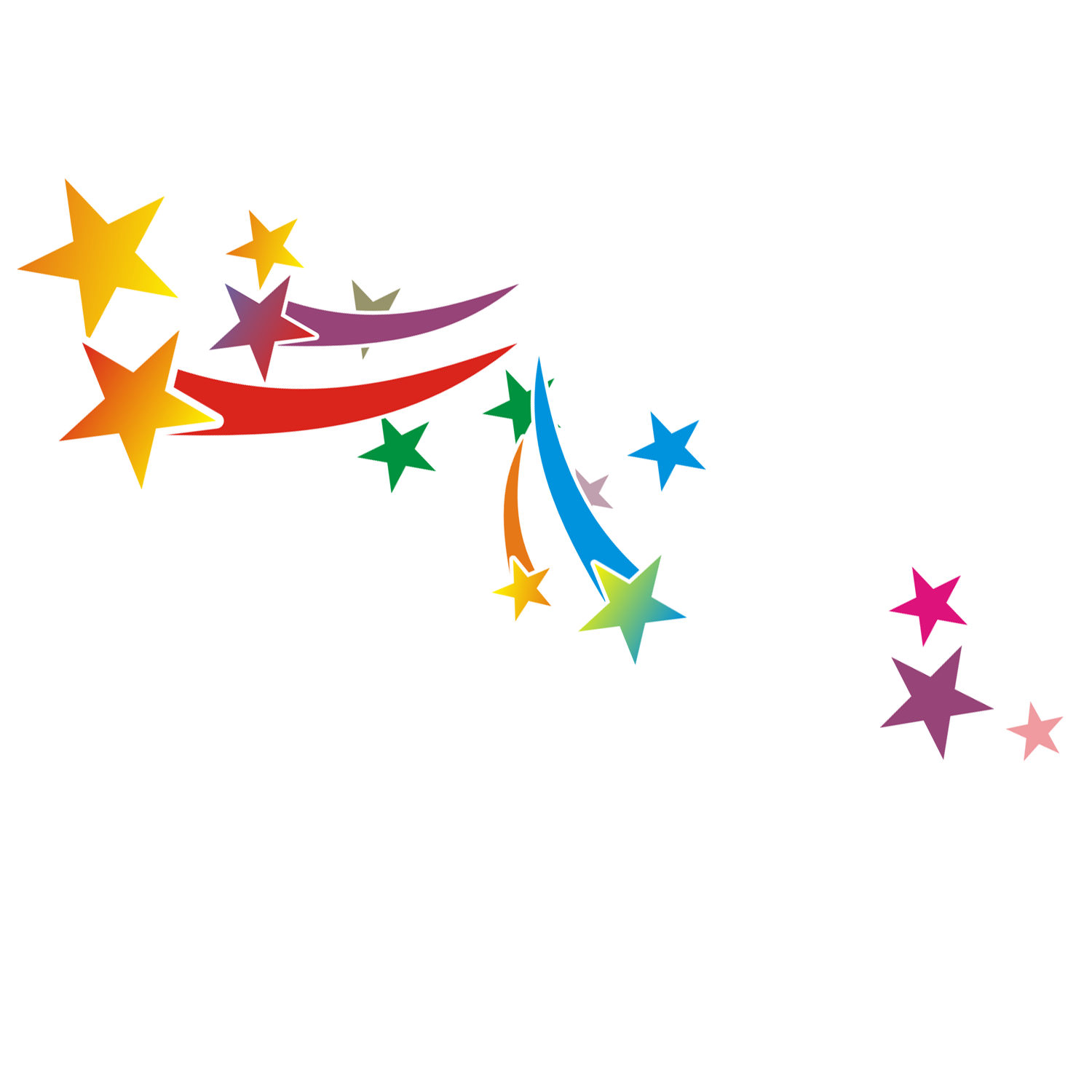 free download Colorful drawing. Moon star clip art