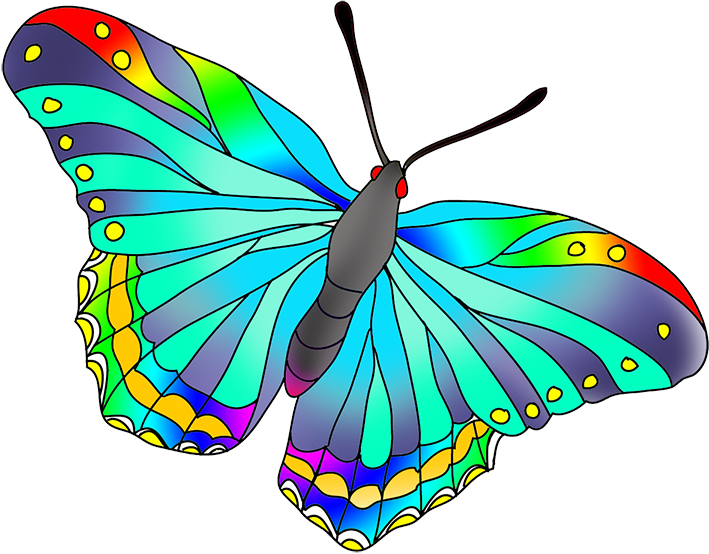 banner royalty free download Collection of free Butterflies drawing color