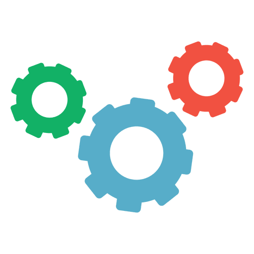 jpg freeuse library Colorful Cogwheel Business Infographic