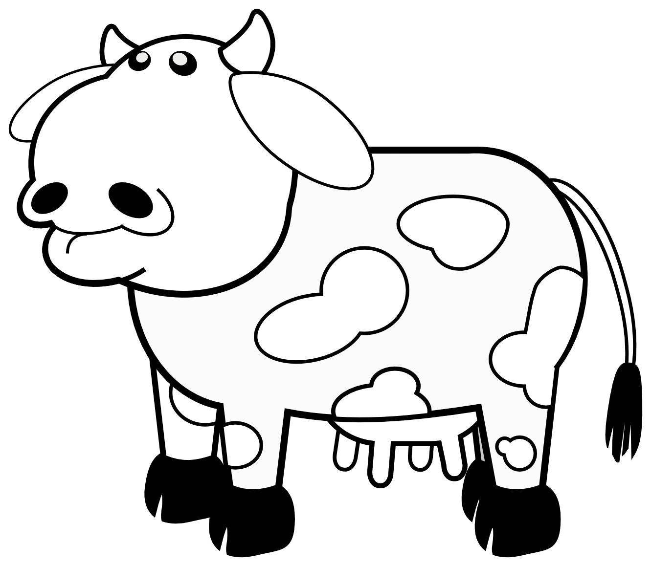 jpg free library Clipart black and white. Cow panda free images