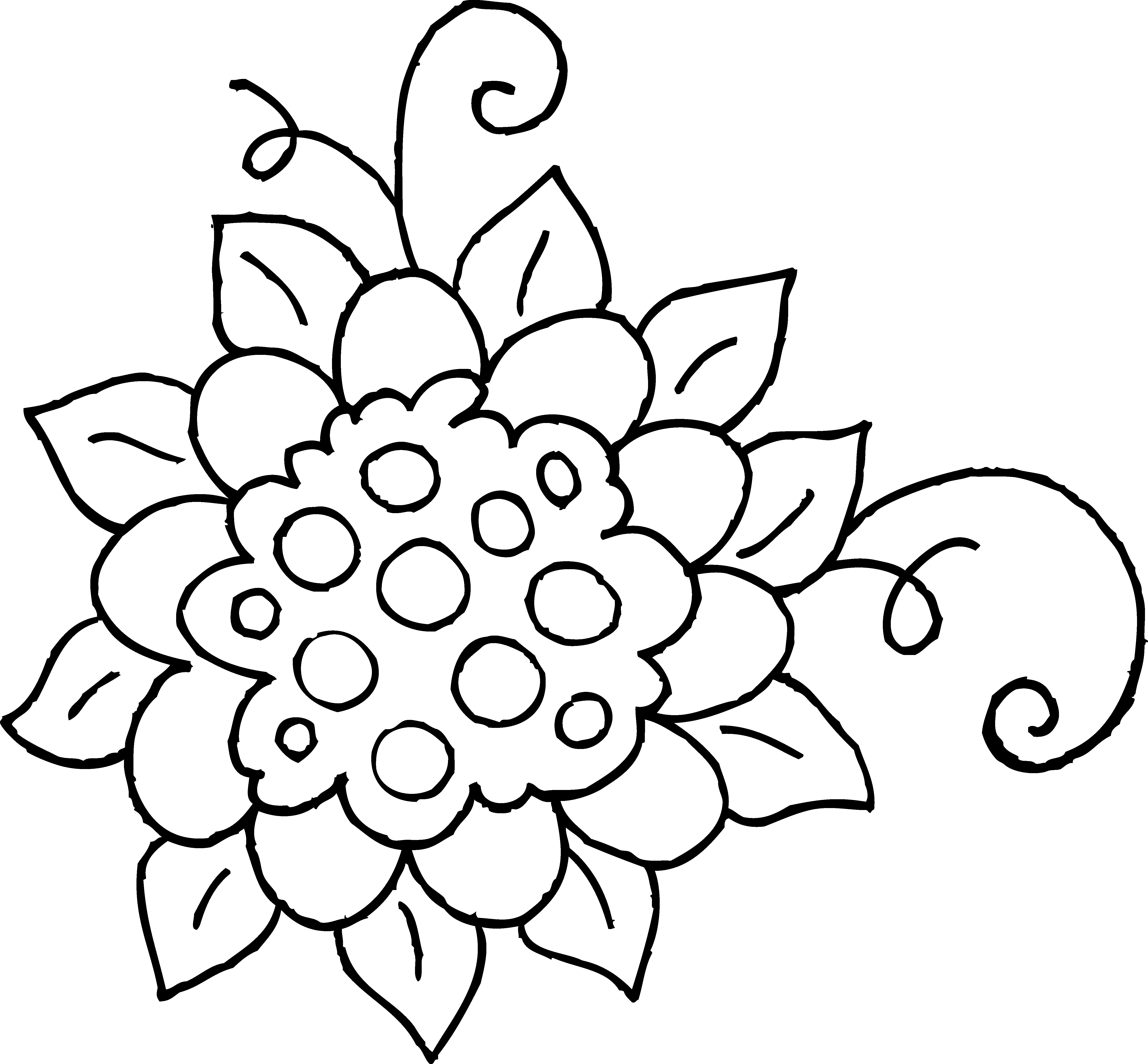 vector royalty free library Cute Spring Flower Coloring Page