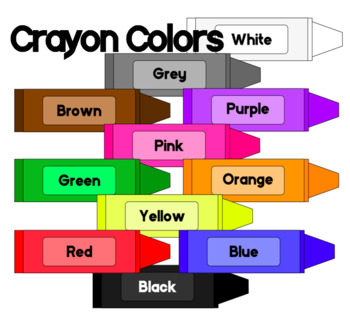 clip art free Crayon clip art freebie. Colors clipart