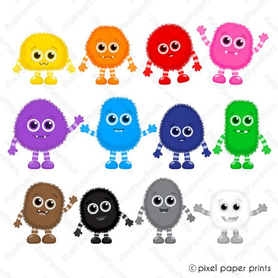 clip library Colors clipart. Color monsters monster clip