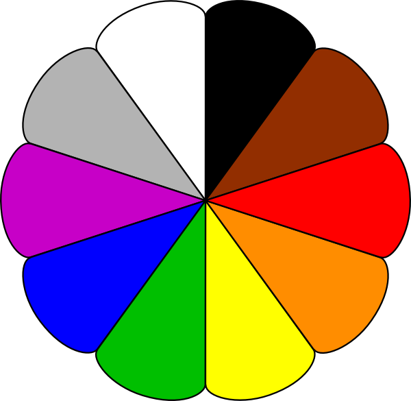 png stock Flower colors clip art. Colored clipart