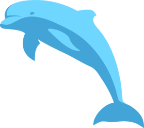 svg library stock Blue Dolphin Clip Art at Clker