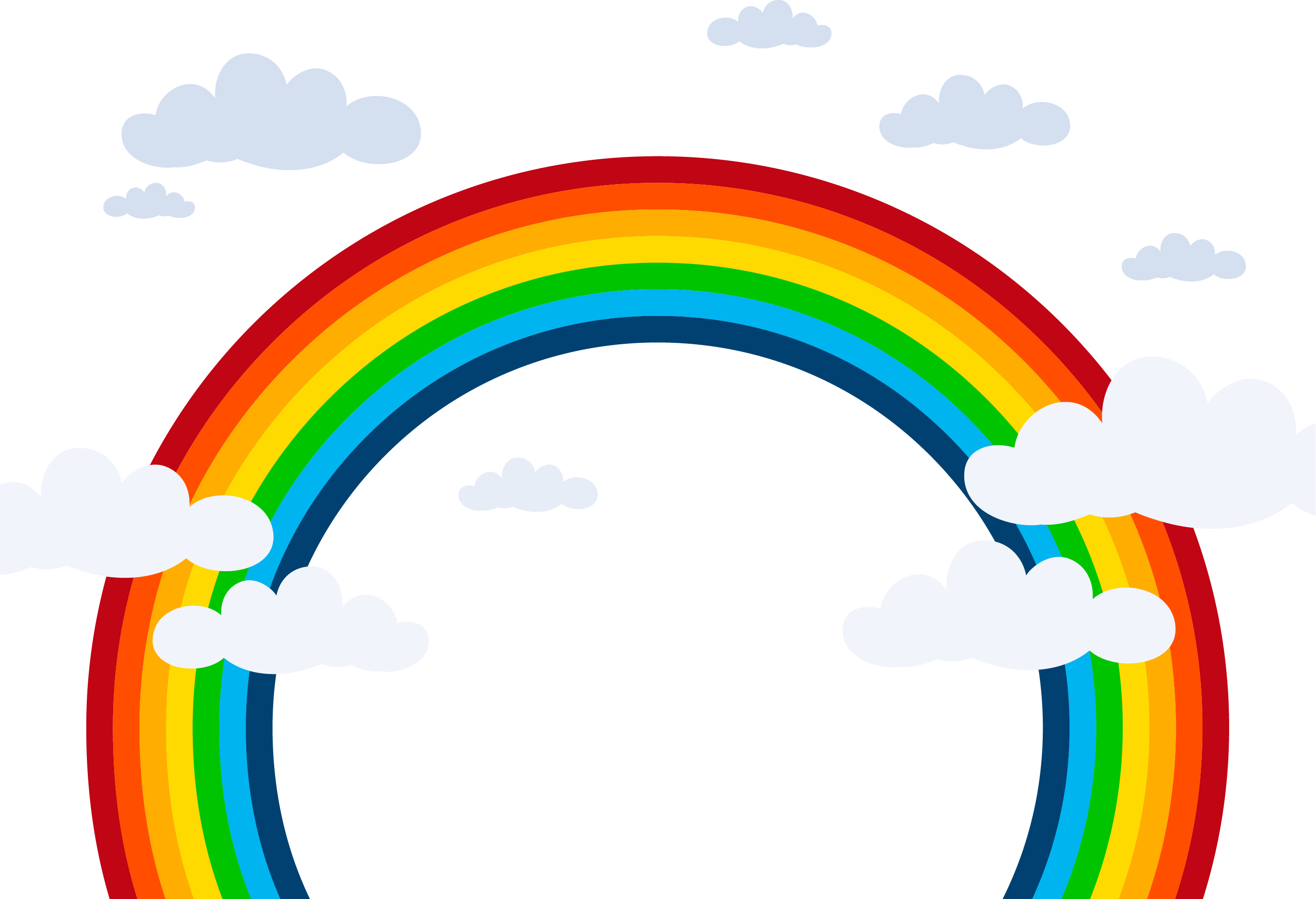 picture freeuse library Black and white rainbow clipart. Png images colors of