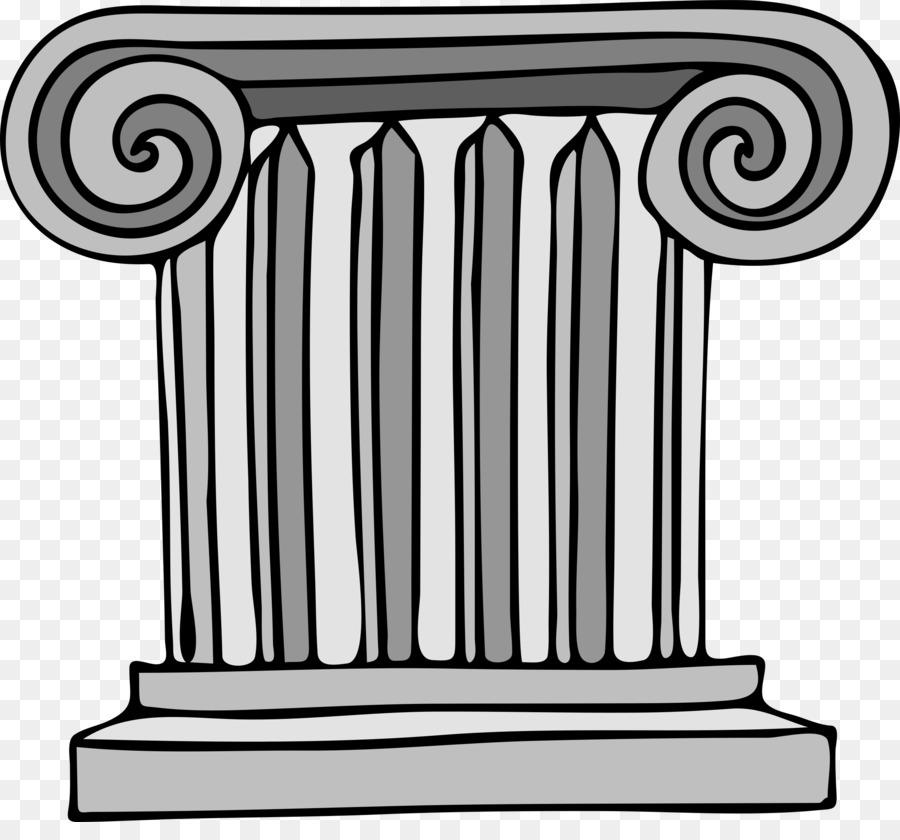 image free download Clip art architecture line. Column clipart